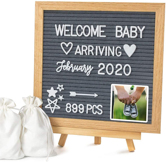 Limited Offer / Double Sided Felt Letter Board with Letters - 10