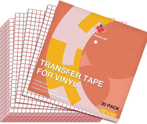 "Limited Offer / Transfer Tape for Vinyl 20 Pack 12"" x 12"" ( Please read the details carefully )"