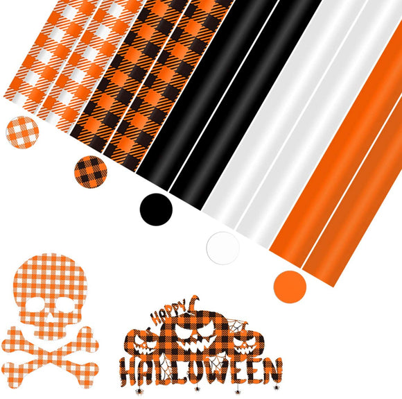 Limited Offer /Halloween Buffalo Plaid HTV 10 Sheets 12