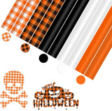 "Limited Offer /Halloween Buffalo Plaid HTV 10 Sheets 12""×10"" ( Please read the details carefully )"