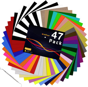 "Limited Offer / HTV Heat Transfer Vinyl Bundle: 47 Pack 12"" x 10"" ( Please read the details carefully )"