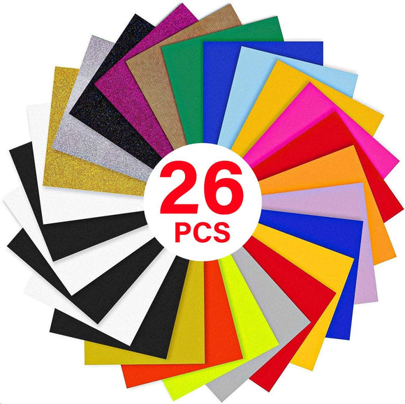 Limited Offer /Heat Transfer Vinyl Bundle : 26 Pack 12