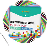 "Limited Offer /HTV Heat Transfer Vinyl Bundle: 24 Pack 12""x12"" ( Please read the details carefully )"