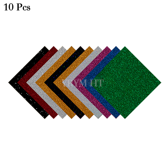 giltter heat transfer vinyl 10 pack