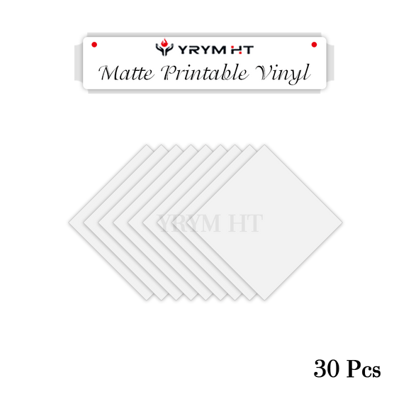 Printable htv vinyl/ matte htv bundle: 30 sheets 8.5