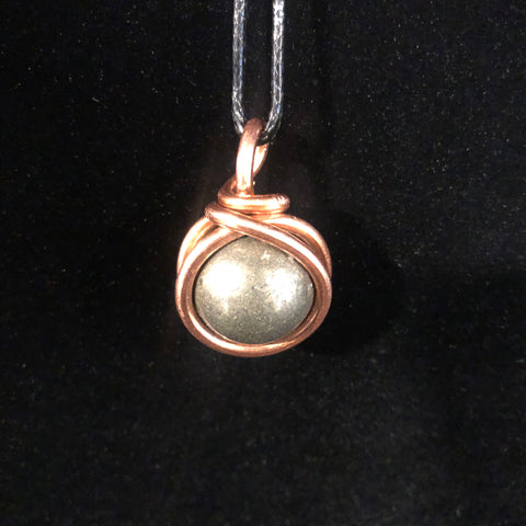 Pyrite Orb Necklace