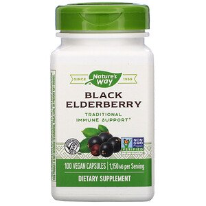 Nature's Way Black Elderberry Vegan Capsules