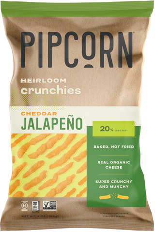 Pipcorn Heirloom Crunchies, Jalapeno Cheddar