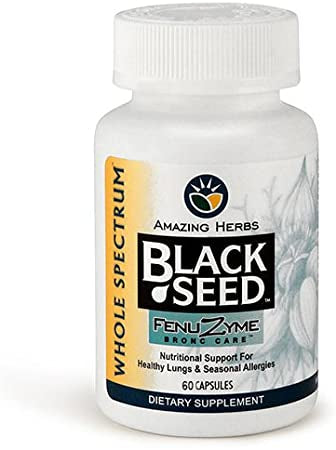 Amazing Herbs Black Seed Fenuzyme - Bronc Care