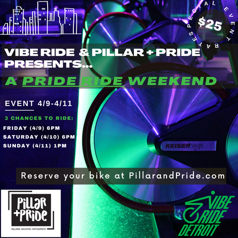 Vibe Ride with Pillar + Pride - Spinning Class