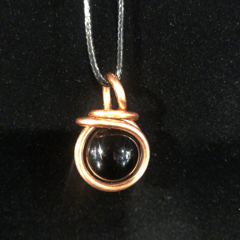 Onyx Orb Necklace