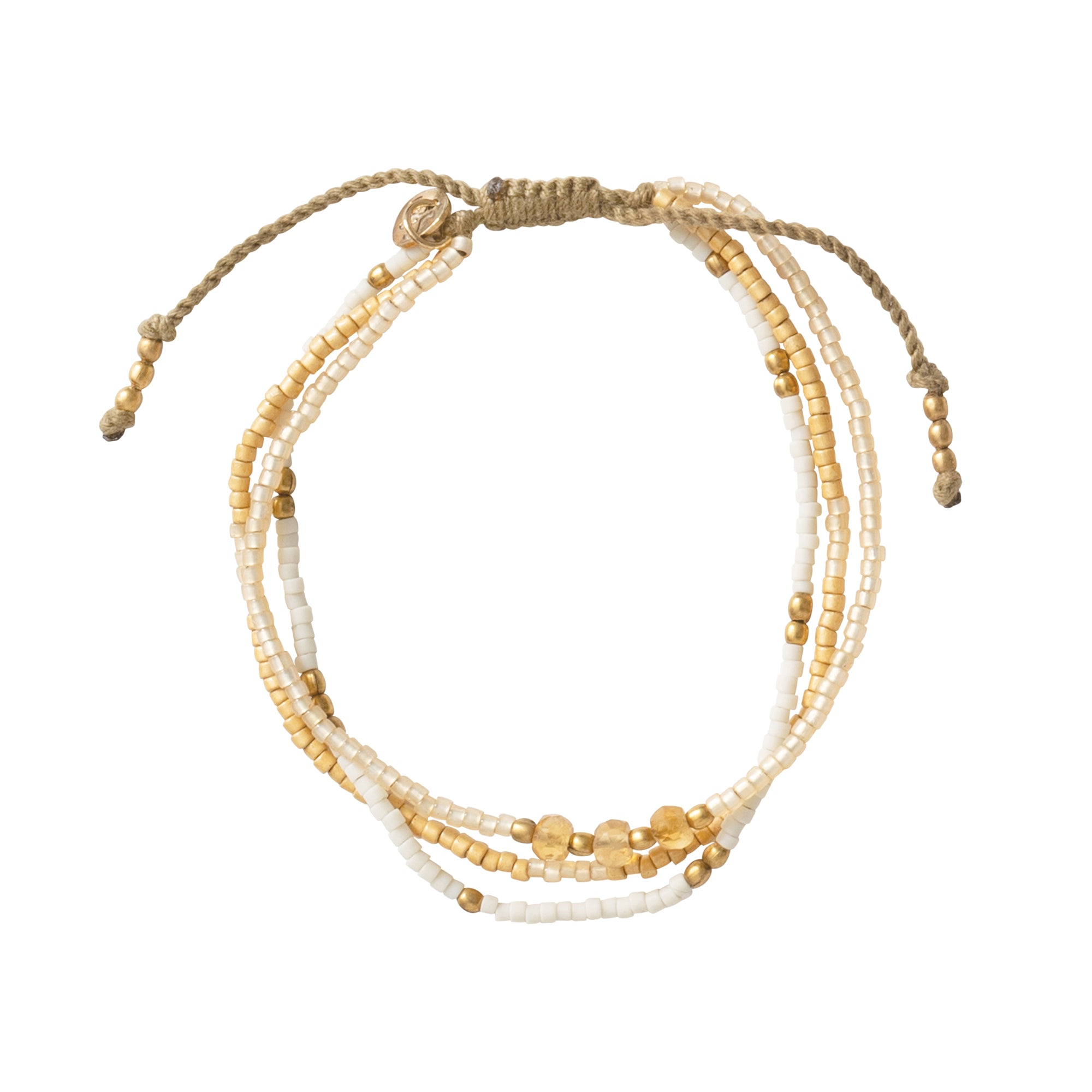 Armband Gentle - Citrin Gold