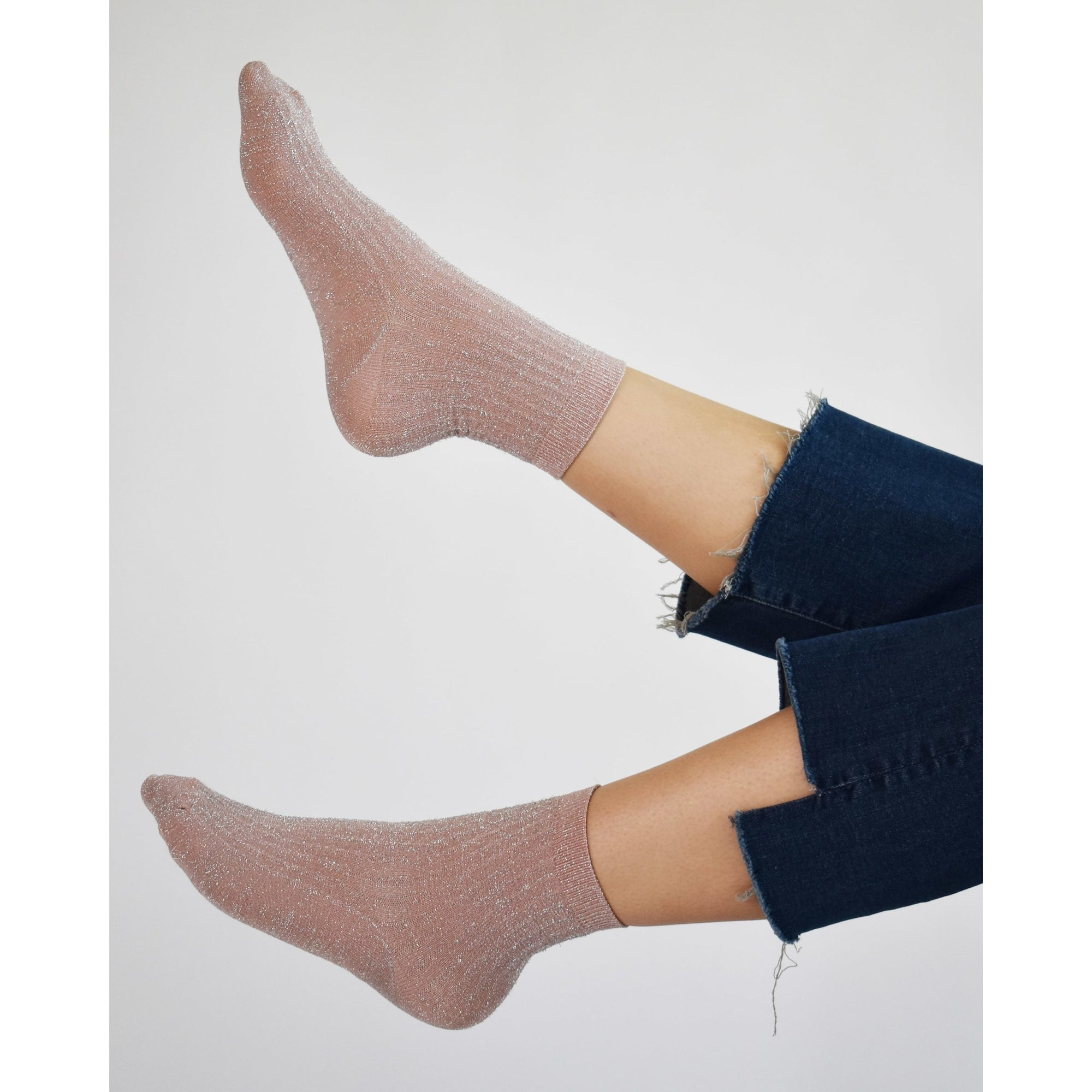 Stella Shimmery Socken - dusty rose