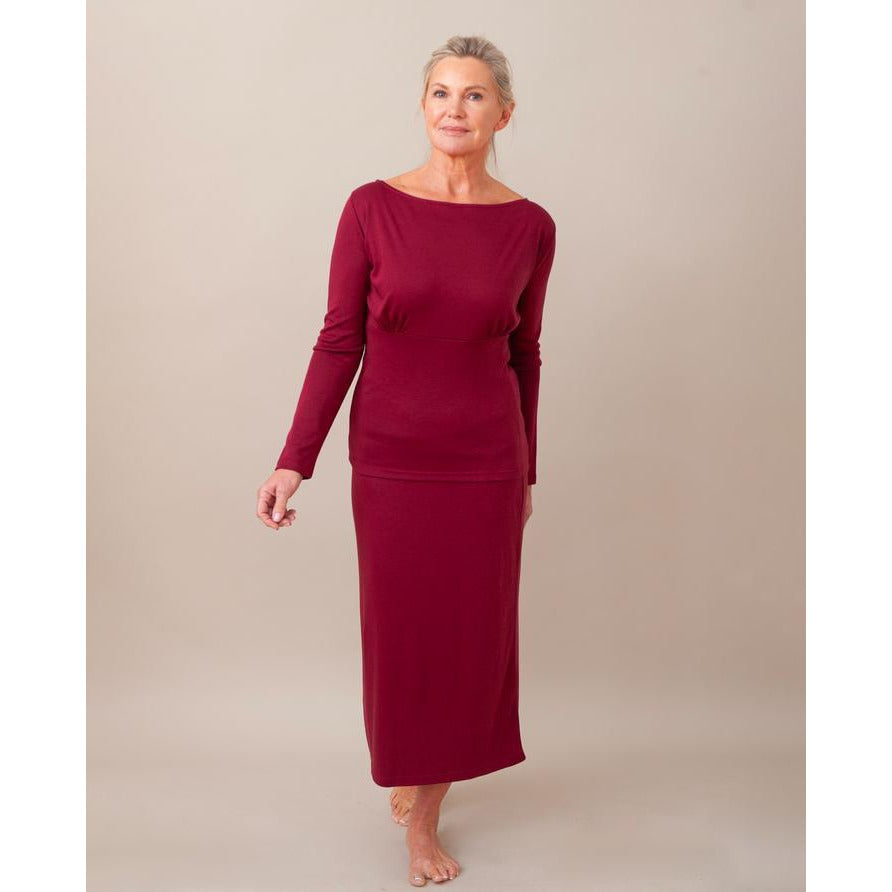 Anne Jersey Rock - burgundy