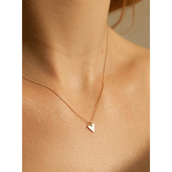 Small Triangle Halskette - Gold