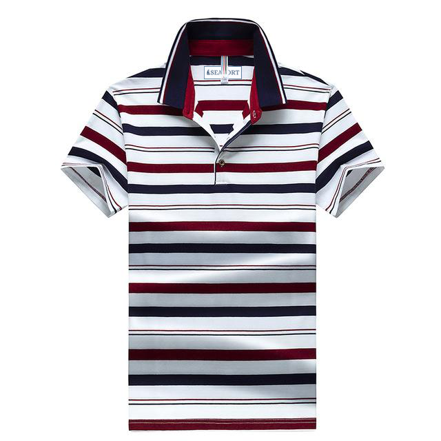 SUMMER 92 STRIPED SHORT SLEEVE POLO