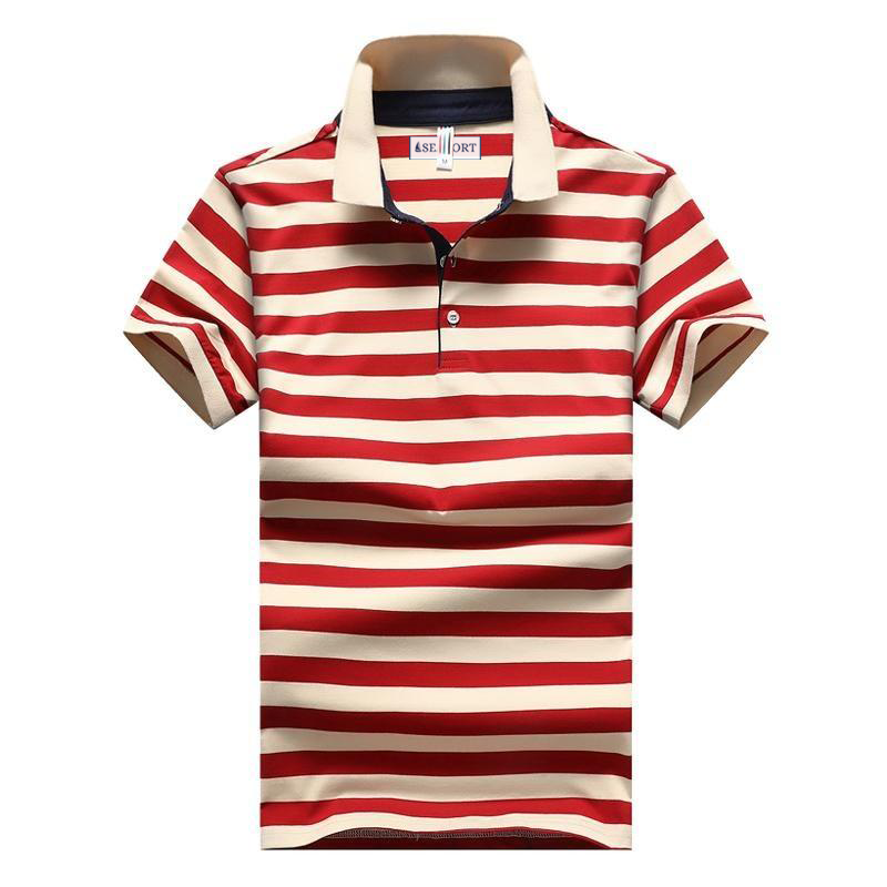 LIGHTHOUSE STRIPED SHORT SLEEVE POLO