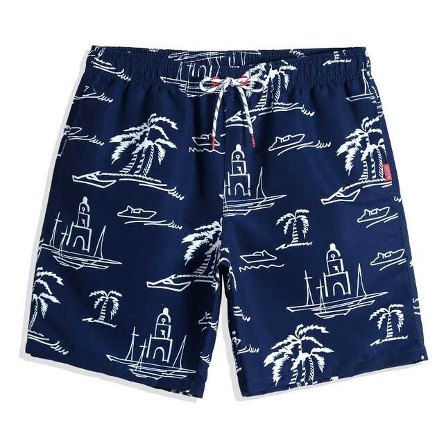 PALM TREE LIGHTHOUSE SWIM TRUNKS