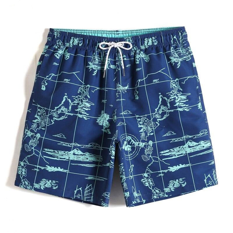 NORTHERN GLACIER ALL OVER SWIM TRUNKS
