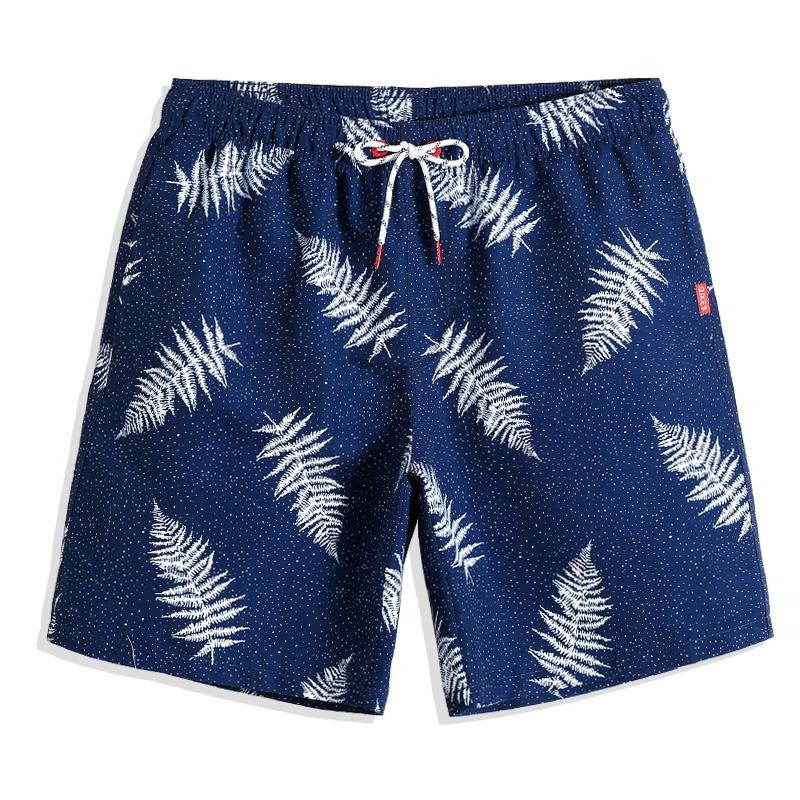 CAPTAINS DOTTED PALMS SWIM TRUNKS