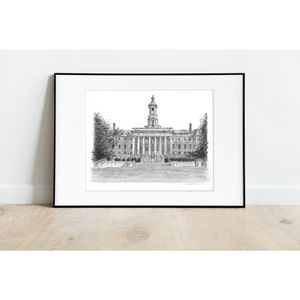 Penn State Old Main Print - Officially Licensed Collegiate Product