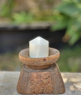 Vintage seeder, candle holder