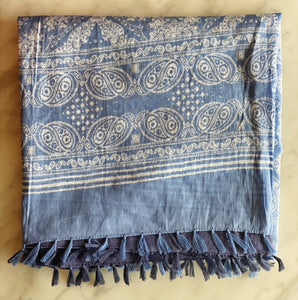 Scarf - cotton, block printed