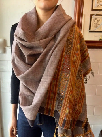 Gujararti Mirrorwork Wool Wrap