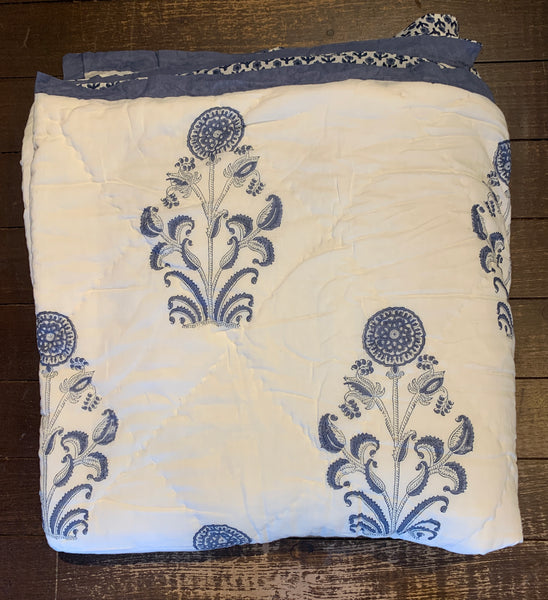 Hand Block Printed Quilt