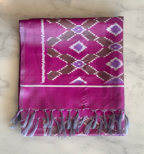 Scarf - Double Ikat Silk