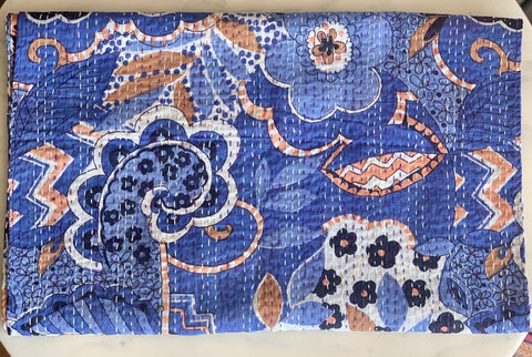 Kantha Stitch Throw