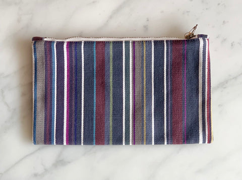 Lined Cotton Drill Zip Bag