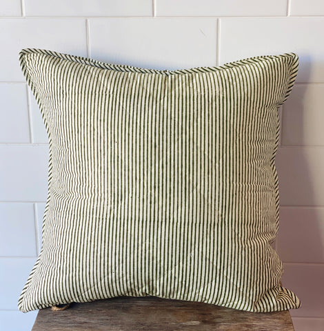 Green Stripes Cushion