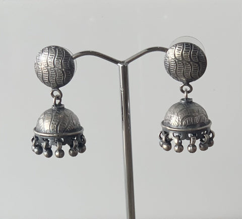 Vintage Sterling Silver Jhumka Earrings