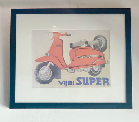 Framed Vintage Vijai Super Advertising Print