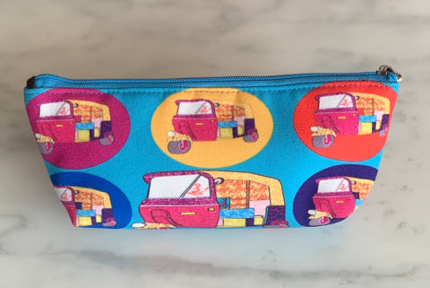 Canvas Tuk Tuk Purse/Pencil Case
