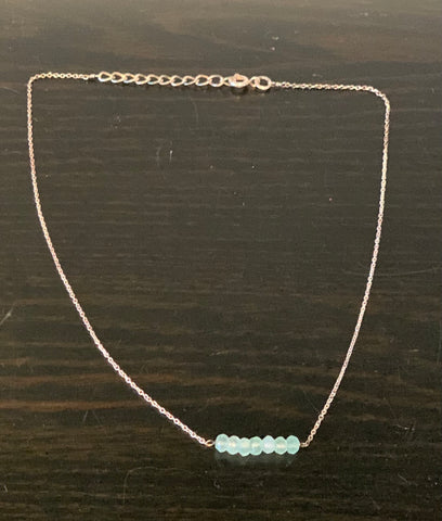 Stirling Silver Chalcedony Necklace