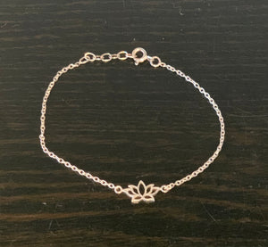 Stirling Silver Lotus Bracelet