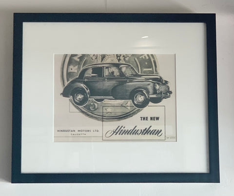 Framed Vintage Hindustan Motors Advertising Print