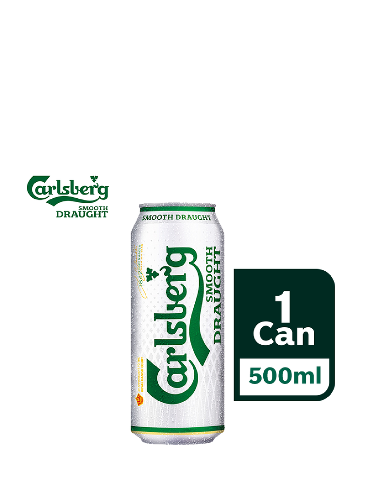 CARLSBERG SMOOTH DRAUGHT BEER CAN 500ML