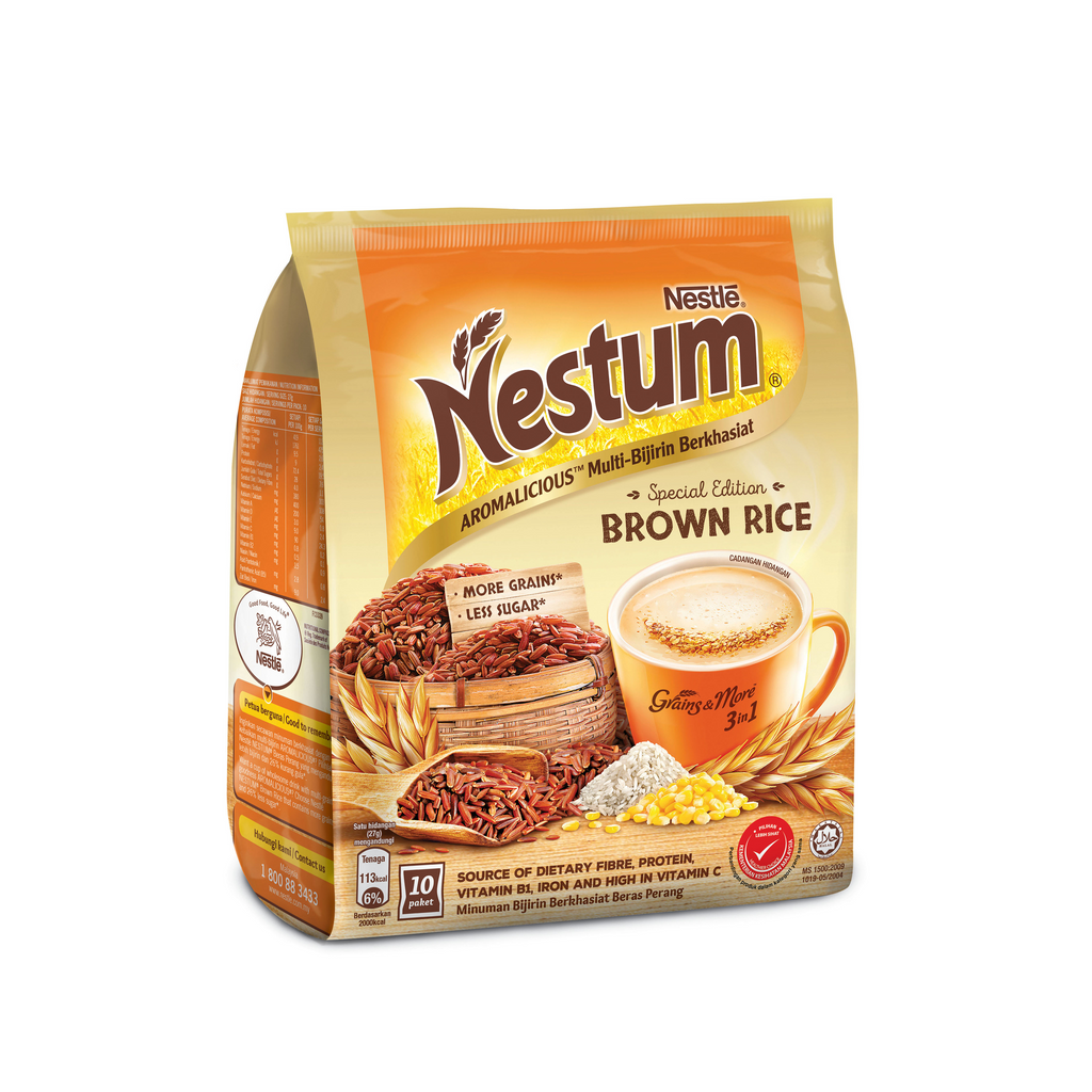 NESTUM 3IN1 BROWN RICE 10X27G