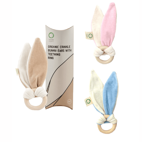 Wooly Organic Bunny Ears Teether