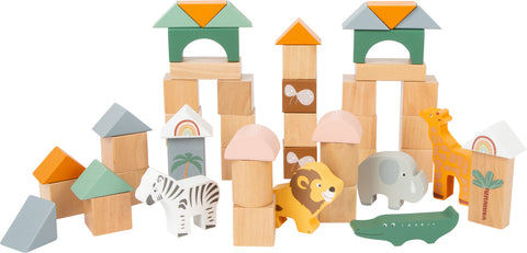 Safari Wooden Building Blocks