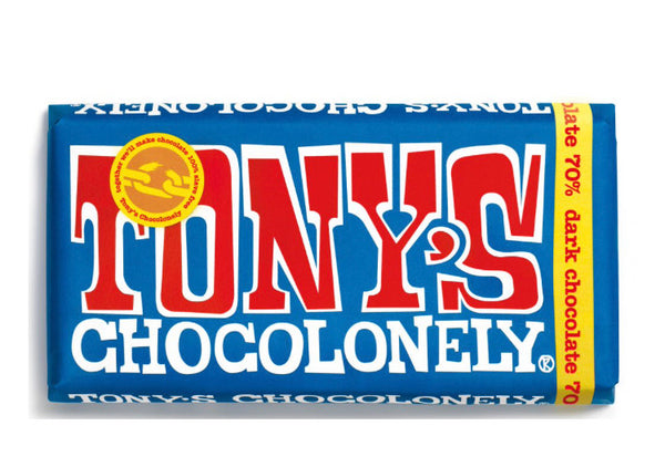 Tony's Chocolonely Extra Dark Chocolate 70% (180g)