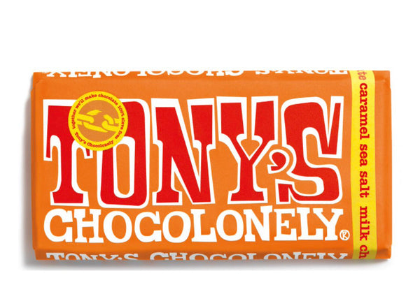 Tony's Chocolonely Milk Chocolate Salted Caramel 180g