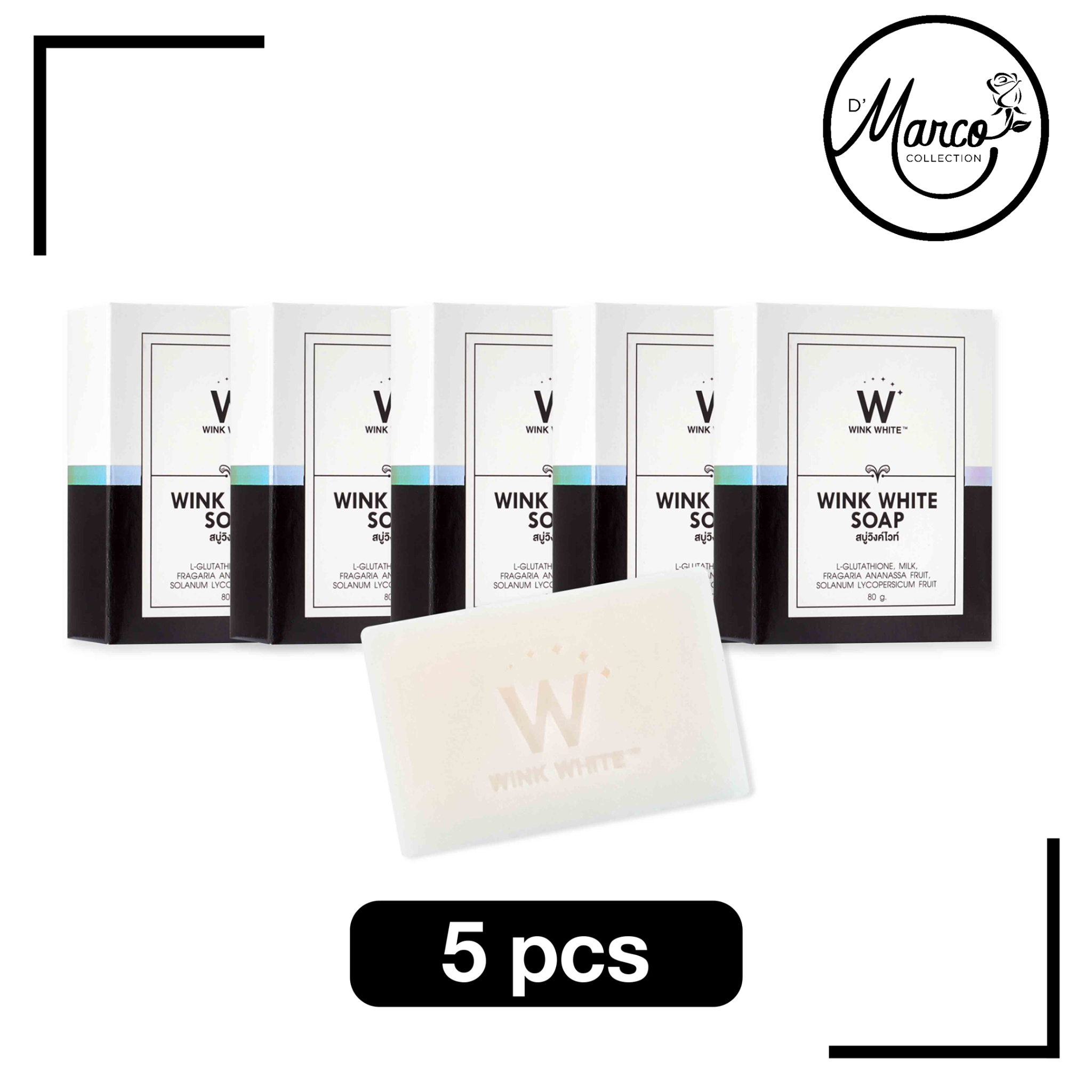 Wink White Soap, 5 bars