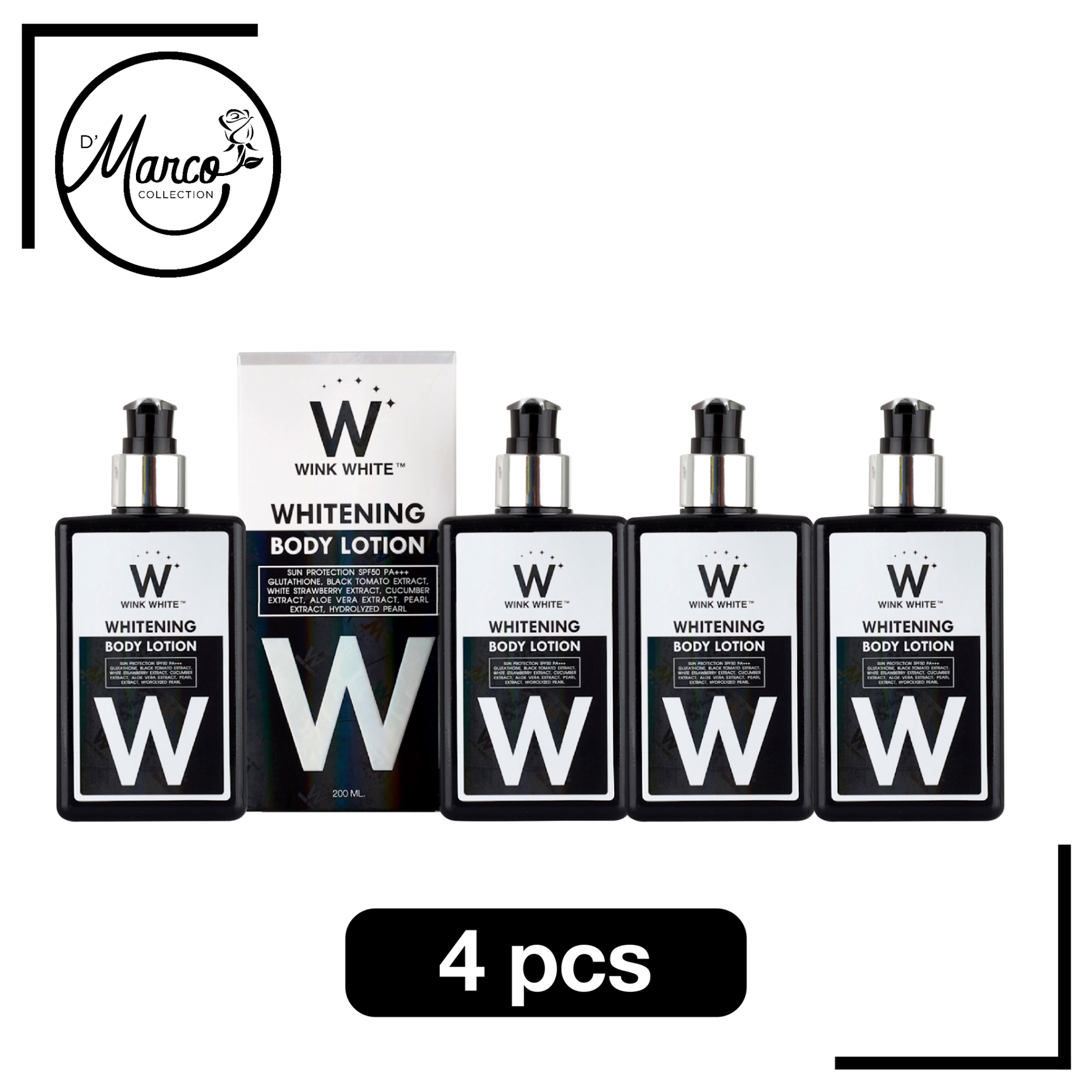 Whitening Body Lotion, 4 bottles