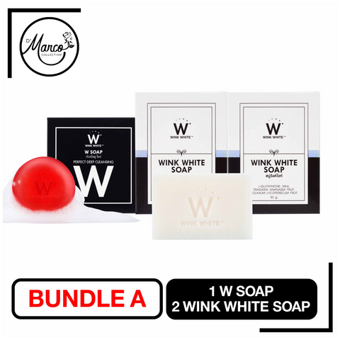 Bundle A, 2 Wink White Soap & 1 W Soap