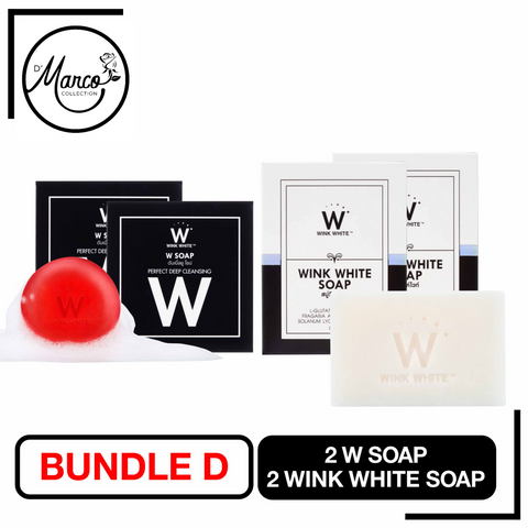Bundle D, 2 Wink White Soap & 2 W Soap