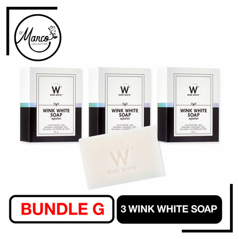 Bundle G, 3 Wink White Soap